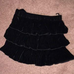 juicy couture black velvet skirt